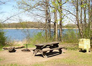 Lake Maria State Park - A walk-in campsite overlooking Bjorkland Lake