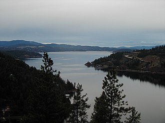 Idaho - Lake Coeur d'Alene in North Idaho