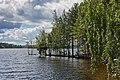 Lakefront of Tahkosaari at Kärkistensalmi, Jyväskylä, Central Finland, 2021 June.jpg