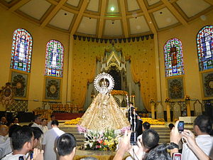 Our Lady of La Naval de Manila - Procession before the enthronement of Our Lady of the Most Holy Rosary of La Naval