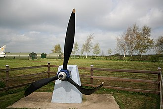 RAF Woodhall Spa - Thorpe Camp - display of Lancaster propellor