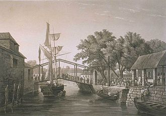 Malacca City - French navigator Cyrille Pierre Théodore Laplace visiting Malacca between 1833 and 1839