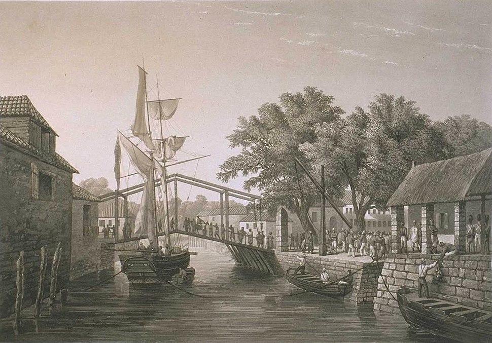 Landing-place at Malacca, 1833-39