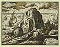 Landscape (with hermit or saint in prayer) - Bart. Coriolano fece in Bologna. LCCN2008678760.jpg