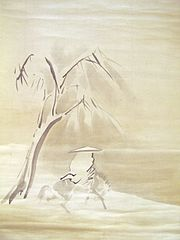 landscape under snow in the style of Ryō Kai