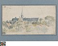 Landschap met kerk, circa 1811 - circa 1842, Groeningemuseum, 0041569000.jpg