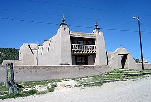 High Road to Taos - Church of San José de Gracia in Las Trampas