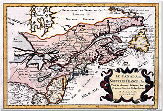 Canada–France relations - Map depicting New France in present-day Canada; 1660.
