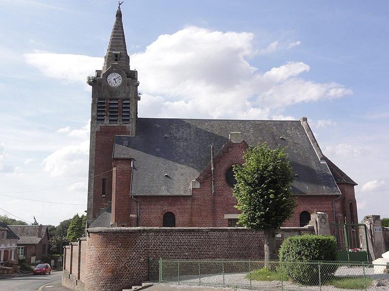 Le Verguier (Aisne) église