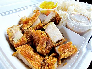 Lechon - Lechon kawali from a Filipino food truck in Los Angeles, California