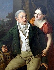 Portrait of the Leipzig merchant, Heinrich Gottlob Beyer (1756-1832), and his daughter, Marianne (Source: Wikimedia)