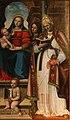 Leonardo Malatesta, Madonna col Bambino tra i santi Pietro, Sebastiano, Cosma, Silvestro e Giovannino, 1518, 08.jpg