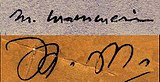 The two signatures of Mouloud Mammeri