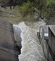 Lexington Reservoir (James J. Lenihan Dam) Spillway, emptying into Los Gatos Creek.JPG