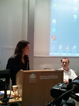 Lhadon Tethong and Andrew Martin Fischer at SFTUK Environment conference.jpg