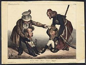 ポルトガル内戦の風刺画(オノレ・ドーミエ、1833年) ポルトガル内戦... ポルトガル内戦