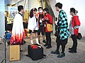 Lily Cao, Boy, Allen Hung and Fancy Frontier staff talking 20201108.jpg