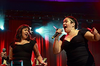 Vika and Linda - Image: Linda and Vika Bull