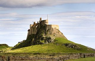 Lindisfarne Tidal island in North East England