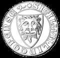 Linköpings stads sigill (1300), Nordisk familjebok.png