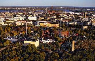 Linnanmäki - Aerial view of Linnanmäki in 2008