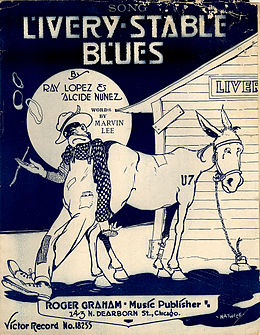 "Singlen ""Livery Stable Blues"" kansikuva"