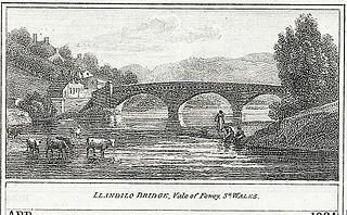 Llandilo Bridge, Vale of Fowey,.Sh.Wales