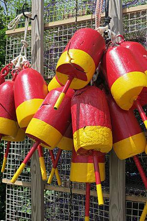 Lobster trap - Image: Lobster Buoys Cluster