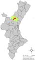 Localització de Xèrica respecte del País Valencià.png