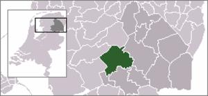 Dwingeloo - Image: Locatie Westerveld