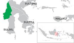 Peta lokasi Sulawesi Barat