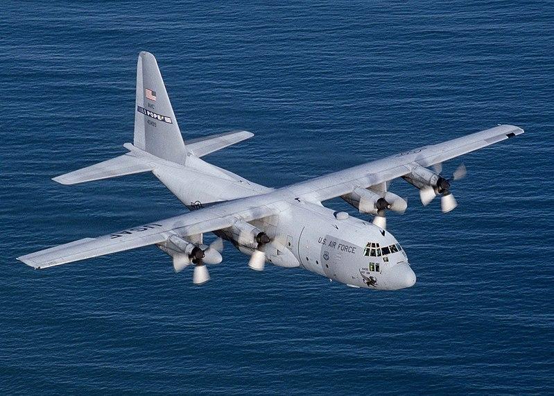 """سد النهضة الاثيوبي """" ملف شامل """" الجزء الثاني: الخيار العسكري ( موضوع فريق فرسان المجد ) 800px-Lockheed_C-130_Hercules"""