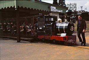 "Wicksteed Park - Locomotive ""Cheyenne"" at Wicksteed Park Railway in 1976"