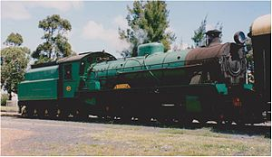 Hotham Valley Railway - W903 at Waroona in the early 21st century