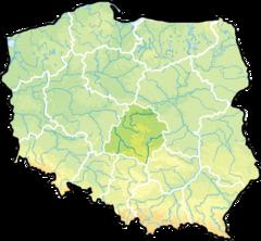 województwo łódzkie na mapie Polski