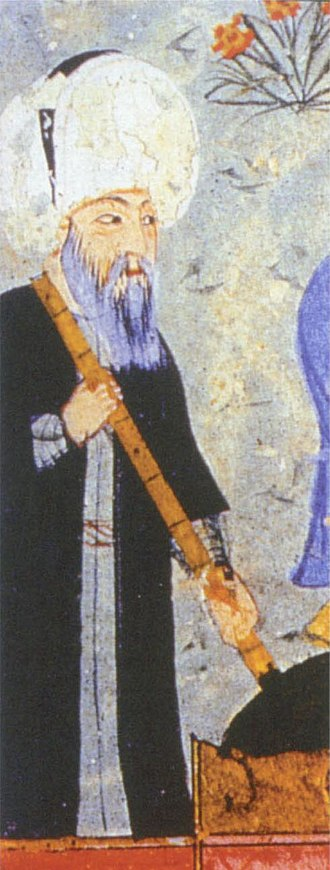 Mimar Sinan - Detail from a minature by Seyyid Lokman produced in c. 1579 that is believed to depict Sinan