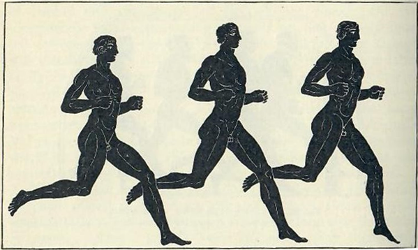 Long Distance Runners, Ancient Greece, Amphora