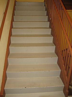 English: Long flight of stairs. Huntsville, AL