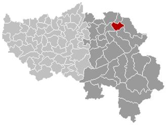 Lontzen - Image: Lontzen Liège Belgium Map