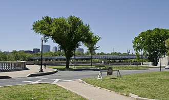 Constitution Avenue - The original western terminus of Constitution Avenue NW, on the shores of the Potomac River. The avenue's connection to this terminus was severed in the mid-1950s.