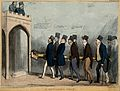 Lord Lyndhurst and the Duke of Wellington high up in a build Wellcome V0050220.jpg
