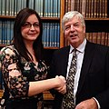 Louise Mayor wins the 2014 European Astronomy Journalism Prize (16437176621).jpg