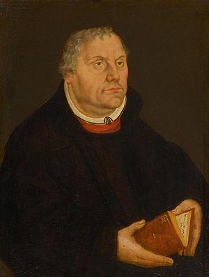 Erhalt uns, Herr, bei deinem Wort - Luther, posthumous painting by Lucas Cranach d. J., 1577