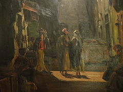 Ludwig Blum painting – Bazaar in the old city (4)