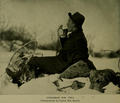 Luncheon for Ernest Harold Baynes and a chickadee. Photograph by Louise Birt Baynes.png