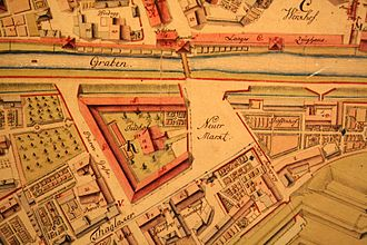 Paradeplatz - The Neuer Markt as it was in 1793, situated outside, reached from the Zeughaus by a footbridge across the old moat.
