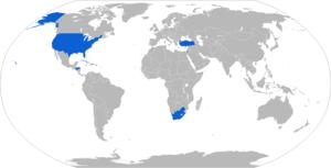 Soltam M-65 - Map with M-65 operators in blue