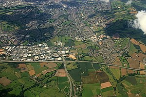 Sowton - M5 junction 29, Sowton industrial estate is to the left of the picture.
