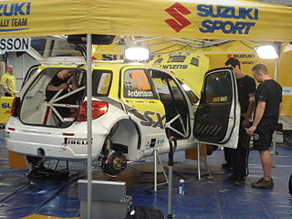 Suzuki World Rally Team 2007–2008 rallying team, participant in the World Rally Championship for Manufacturers