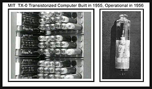 TX-0 - TX-0 computer circuitry used Philco surface-barrier transistors, which were encapsulated in plug-in vacuum tubes for testing and easy removal.